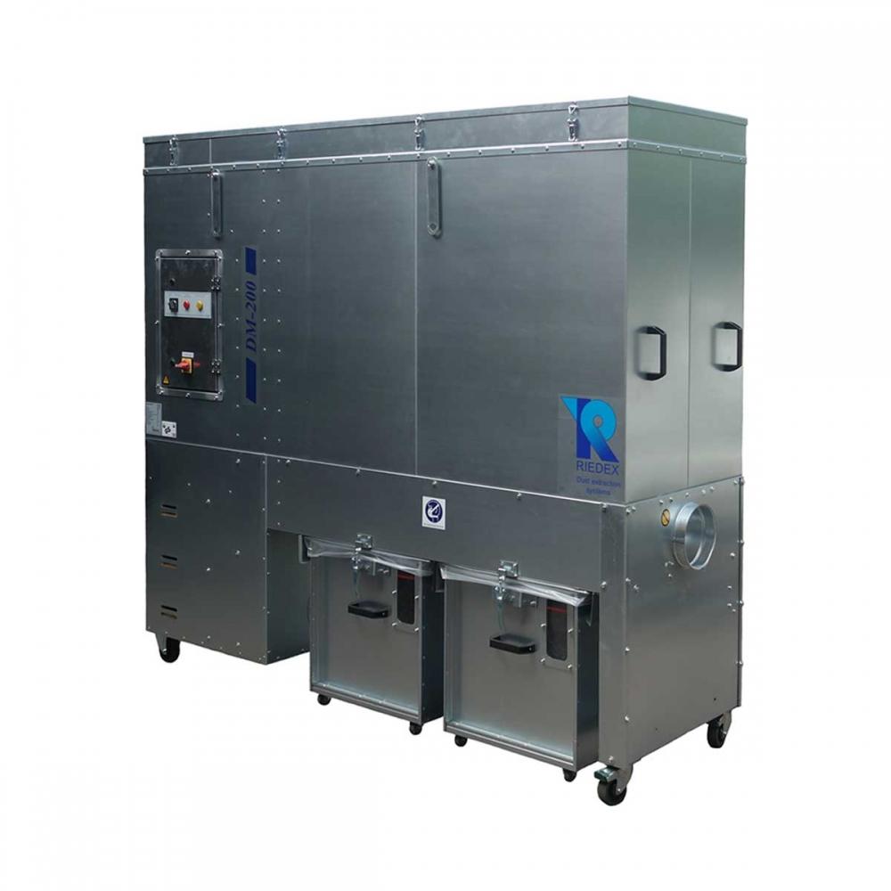 Entstauber DM 200 - motorische Vibrationsabreinigung
